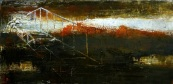 ESCALIER DUNHUANG 60x30 cm-huile_toile